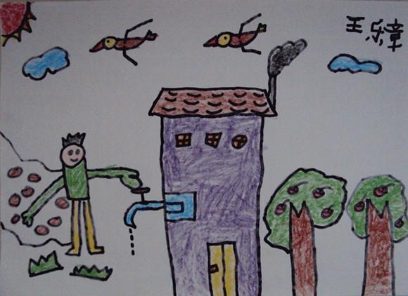 节约用水儿童主题绘画图图片